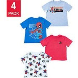 Marvel 4-pack Tee, Spiderman New Toddler boys